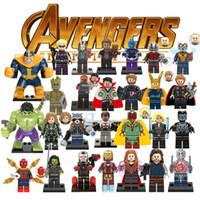 figuras de hulk brinquedos venda por atacado-Ation figura 33 modelos super hero avengers capitão marvel formiga homem vespa blocos de construção hulk pantera negra brinquedos para crianças