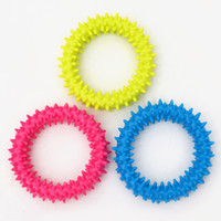 Wholesale small pet toys resale online - Ring Of Thorns Circle Rubber Cats And Dogs Pets Toys High Quality Outdoors Modern Molar Tooth Ring Factory Direct Selling