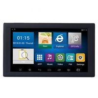avin auto gps großhandel-HD 9 Zoll Auto Navigation LKW GPS Navigator Auto Auto Navi 8 GB Neueste Karten WinCE 6.0 FM Bluetooth AVIN Unterstützung Multi-Sprachen 002