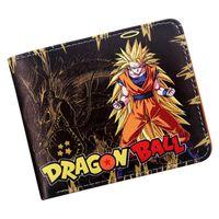 z billetera al por mayor-monedero de diseño monedero Dragon Ball Z Monedero Goku Monedero corto Hombres jóvenes Mujeres Estudiantes Moda Anime Monedero corto
