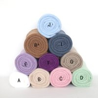 Wholesale jersey knits fabric for sale - Group buy Newborn stretch Knit wrap Textured Mohair Jersey Wrap Baby swaddle Sack Photography props Layer Fabric
