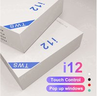 Wholesale I12 TWS Earbuds Mini Wireless Headset for Android iPhone with Charging Box Bluetooth Earphones PK I11 I9S I18 I10 with Retail Box