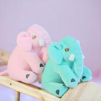 miúdos dos desenhos animados que dormem venda por atacado-30 CM Dormir Elefante De Pelúcia Boneca Anime Elefante Brinquedo De Pelúcia Dos Desenhos Animados Elefante De Pelúcia Animais Travesseiro Filhote de Cachorro Brinquedos para As Crianças