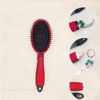 cheveux cachés achat en gros de-Femelle Rouleau Peigne Multi Fonction Caché Boîte De Rangement En Plastique Brosse À Cheveux Barber Shop Fournitures Rouge Anti Usure 14bm C1