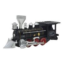 tren de juguete largo al por mayor-Niños ferrocarril eléctrico Tren Juguetes Tren clásico de Long Track Luz del ferrocarril y el sonido Vía de tren Modelo Juguetes para niños