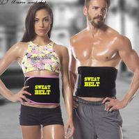 cintos de estômago homens venda por atacado-Cinto de esportes Novo Suor Da Cintura Cinto Trimmer Envoltório Estilingue Gordura Queimar Corpo Shaper Cintos Para Homens E Mulheres