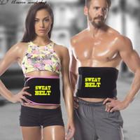 cinturones estomacales hombres al por mayor-Cinturón deportivo Nuevo Cinturón de sudor Correa de ajuste Correa Estómago Adelgaza Grasa Quemadora Corporal Fajas para hombres y mujeres