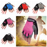 sèche-gants achat en gros de-Outdoor Fitness Half Finger Gants Hommes Mitaines Solaires Respirantes Net Séchage Rapide Gants De Vélo Résistant À L'usure 5 couleurs ZZA181