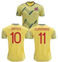 camiseta de fútbol sanchez al por mayor-Camiseta 2019 Colombia Falcao James Rodriguez Fútbol CAMISAS Sanchez Soccer Jersey Copa América Colombia 19 20 Camiseta de Futbol Maillot