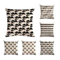 caso zigzag al por mayor-Funda de almohada con patrón simbólico simple, funda de almohada decorativa, funda de sofá, funda de almohada 45 * 45 cm, decoración del hogar