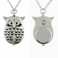 ingrosso owl a forma di orologio-Regalo della collana del pendente di Digital di modo dell'aereo della vigilanza di tasca del silicone dell'orologio da tasca del silicone del gufo