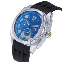 reloj de pulsera suizo ejercito al por mayor-de Nuevo Reloj de cuarzo suizo Reloj de pulsera INVICTA Acero inoxidable Oro rosa Hombres Deporte Militar DZ Relojes Correa de silicona Reloj de calendario del ejército