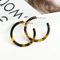 ingrosso l'orecchino acrilico ciondola-Orecchini pendenti ovali in resina acrilica per donne Orecchini a cerchio grande Gioielli in acetato acetato Brincos Moda Orecchini a cerchio grande
