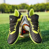 tamaño niños fútbol al por mayor-Zapatos oficiales de fútbol para niños, niños, Nitrocharge, Fg, suelo firme, Ag / tf, botas de fútbol, zapatillas de entrenamiento Messi para niños adultos, talla 36-45