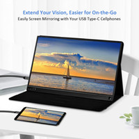 Wholesale usb dual monitor resale online - Portable Monitor USB Type C Full HD IPS USB C Portable Monitor Built in Dual Speakers Compatible with Laptop Computer