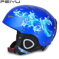 выключатели верхнего света оптовых-Boys/Girls Kids Skiing Helmets Snowboard Helmet Skateboard Mask Winter Snow Fast Motor Bike Cycling Camping Sports Safety Helmet