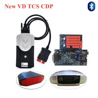 Wholesale car diagnostic scanner cdp online - VD TCS CDP Blue pcb relay R3 with keygen R0 free active can choose with Bluetooth Scanner car truck OBD diagnostic tool