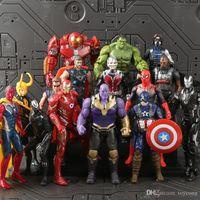 wunder rächer spielzeug set großhandel-Avengers FUNKO POP 24 Styles The Avengers Actionfigur Allianz 3 Marvel Hulk Spider-Man Iron Man Amerikanischer Kapitän Spielzeug Puppe Set