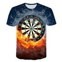 tablas de dardos al por mayor-2019 Las mejores camisetas 3D Dart Board Camiseta Dardos Juego Juego de tiras Camiseta gráfica Camisetas de manga corta Diseñador Camisas