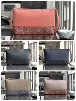 Wholesale dresses pink coffee for sale - Group buy Glitter new leather Handbags crossbody women Shoulder Bags colors