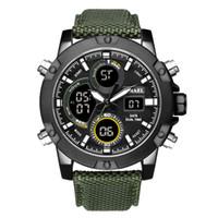 ingrosso analogico lcd orologio-Orologio quadrante in lega BRW Display LCD analogico digitale da esterno Orologio sportivo da uomo al quarzo con movimento a cronometro