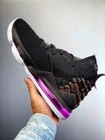 17 caja original al por mayor-2019 Zapatos auténticos de Lebron 17 LAKERS Oreo de baloncesto del Mens James 17 entrenadores deportivos zapatillas de deporte con la caja original BQ3177-004