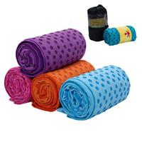 estera de toallas de yoga al por mayor-7 colores estera de yoga manta de toalla antideslizante superficie de microfibra con puntos de silicona de alta humedad secado rápido alfombras para bebés esteras de yoga CCA11711 50 unids