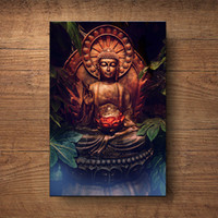 Wholesale buddha paintings living room resale online - Large size Print Oil Painting Wall buddha painting Wall Art Picture For Living Room Poster Picture No Frame