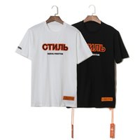 ingrosso camicie uomo hip hop-h1: 1 Heron Preston T Shirt Uomo DSNY Hip Hop Oversize Stagione6 Moda classica Russo Letters Cotone T-Shirt Uomo panno