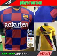 camisetas de fútbol personalizadas al por mayor-Versión para jugadores 2019 2020 camisetas de fútbol caseras AWAY 19 20 camisetas de fútbol de alta calidad Uniformes de fútbol personalizados para adultos