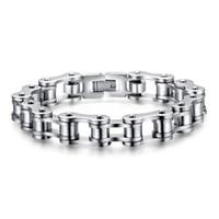 Wholesale steel bike chain bracelet resale online - Zerotime NEW FASHION Men Jewelry Bike Chain Stainless Steel Bracelet inch Luxury