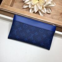 torba bölmeleri toptan satış-2019 Sıcak Toptan klasik standart cüzdan erkekler kadınlar uzun çanta para çantası çift fermuarlı kese para cebi not bölmesi M30279