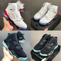 basketbol ayakkabıları yeşil renkte toptan satış-2019 Erkek Mars 27C Basketbol Ayakkabıları Erkekler Spor Sneakers için Beyaz Siyah Yeşil Glow karanlık des Chaussures Eğitmenler Zapatos Boyutu 7-12
