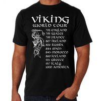 le monde le plus drôle achat en gros de-Tour Du Monde Viking Drôle Rock Concert Concert Parodie Invasion Dates Hipster Cool T-shirt Shirt Hommes Garçon Grand Personnalisé À Manches Courtes XXXL T-shirts