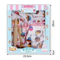 Wholesale chefs toy for sale - Group buy 2019 Children Chef Set DIY Cooking Baking Suit Toys Set New Pretend Play Clothes Apron Gloves Hat Cooker Gift For Children Girl Y200428