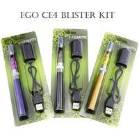 ce4 dhl versand großhandel-EGO CE4 Starter Kit 1100mAh 900mAh 650mAh Ego T Akku 510 Gewinde 1,6 ml CE4 Atomizer Blister-Verpackung Freier DHL