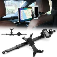 kafalık koymak toptan satış-Araba Arka Koltuk Kafalık Tutucu Braketi Standı Tablet Standı Kiti Samsung Iphone6 Için iPad 4 Hava HHA144