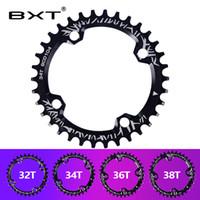 placas de alumínio redondas venda por atacado-2018 BXT Bicicleta Manivela 104BCD Rodada Forma Chainring Roda de Bicicleta 32 T / 34 T / 36 T / 38 T MTB Bicicleta Crankset Placa De Alumínio Único