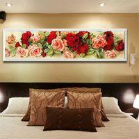 ingrosso kit di diamanti diy-5D Rose Wall Diamond Ricamo Pittura DIY Strass Punto Croce Kit Craft Home Decor Rose Pattern