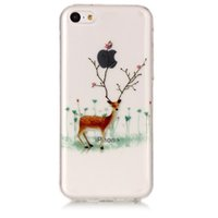 Wholesale blue iphone 5c white case online – custom For iphone x xs max xr plus c Mobile Shell Santa Elk tpu All Inclusive Drop Mobile Phone Case