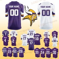 Wholesale cans customize for sale - MINNESOTA VIKINGS jerseys Trae Waynes Teddy Bridgewater Kyle Rudolph Dalvin Cook Can be customized jersey