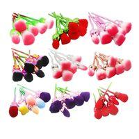 çiçek araçları toptan satış-Gül Çiçek Makyaj Fırçalar 6 adet Gül Şekli Kozmetik Toz Yüz Fırça Göz Farı Karıştırma Fırçası Seti Güzellik Aracı GGA1861