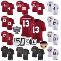 Wholesale alabama stitched jerseys for sale - Group buy Custom NCAA Alabama Crimson Tide Jerseys Tua Tagovailoa Jersey Jerry Jeudy Jaylen Waddle Najee Harris College Football Jerseys Stitched