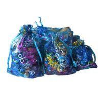 büyük organze düğün torbaları toptan satış-Toptan Organze Hediye Çanta Büyük Boy 8 * 12 inç Düğün Festivali Hediye Çanta Takı Şeker Saklama Çantası Toptan parti Malzemeleri