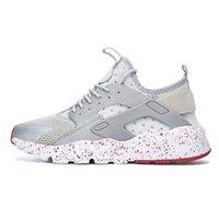 kırmızı nokta ayakkabılar toptan satış-Beyaz Nokta ACE Huarache 4.0 IV 1.0 Koşu Ayakkabıları Klasik Üçlü Siyah kırmızı erkekler kadınlar Marka Huaraches lüks spor SneakersRT