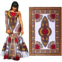 telas con estampado java al por mayor-Garantía de calidad Envío libre a la puerta 6 yardas 100% algodón africano Java Cera tela impresa africana de la cera impresiones de la tela