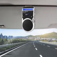 libro de voz al por mayor-Conecte 2 teléfonos Altavoz solar para automóvil Kit Bluetooth Kit manos libres Altavoz con visera y guía telefónica Llamadas de voz