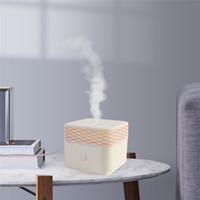 humidificateurs à humidité chaude achat en gros de-120ml huile essentielle diffuseur d'arôme humidificateur d'air électrique usb mini brumisateur carré chaud nuit lumière pour la maison chambre