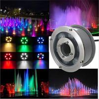 24v 6w licht großhandel-6W 9W 12W 15W 18W RGB Unterwasserlicht-Swimmingpoollampe 12V 24V Unterwasserlicht-Brunnen führten wasserdichtes IP68