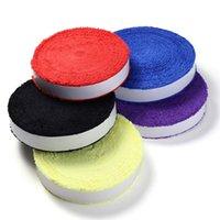 kaymayı önleyici kavrama badminton toptan satış-1 Reel 10 M Havlu tutkal kavrama kaymaz badminton raketi overgrips 5 Renkler